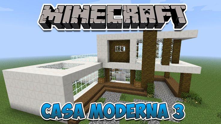 Minecraft construindo uma casa moderna 3 casas modernas for Casa moderna minecraft easy