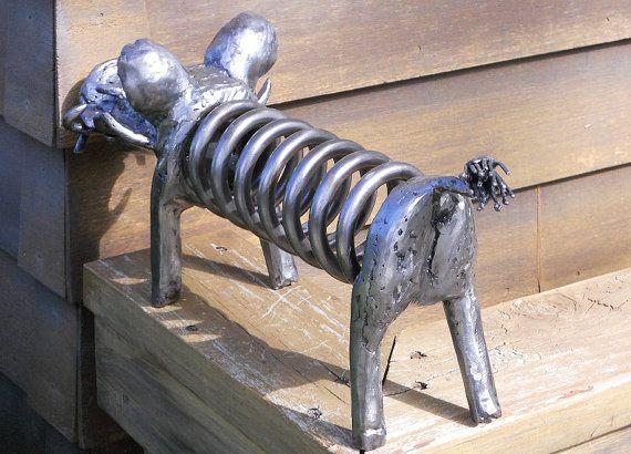Wart Hog cerdo Metal escultura jardín patio por rustaboutcreations