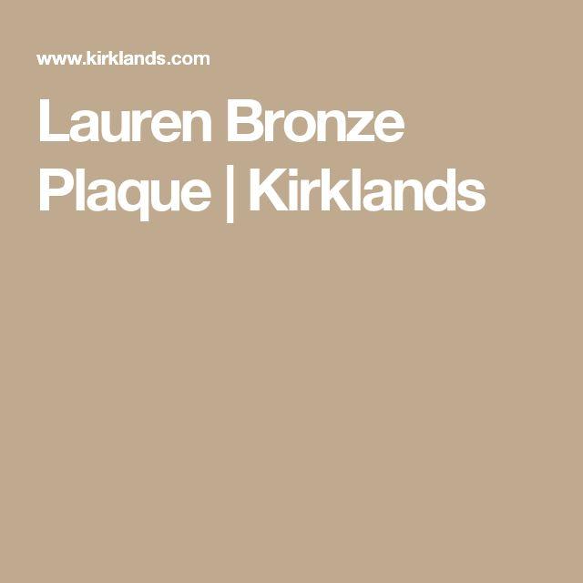 Lauren Bronze Plaque | Kirklands