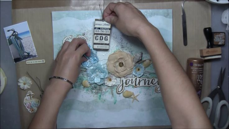 ''Journey'' - Mixed Media Layout Tutorial for ''My Creative Scrapbook''