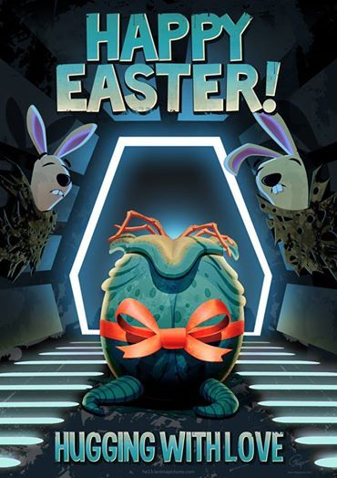 """In space, no one can hear your """"Happy Easter""""! Alien Easter Egg by Gyulai FloydWorx Csaba"""