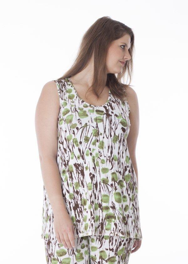 sleeveless print top Simil