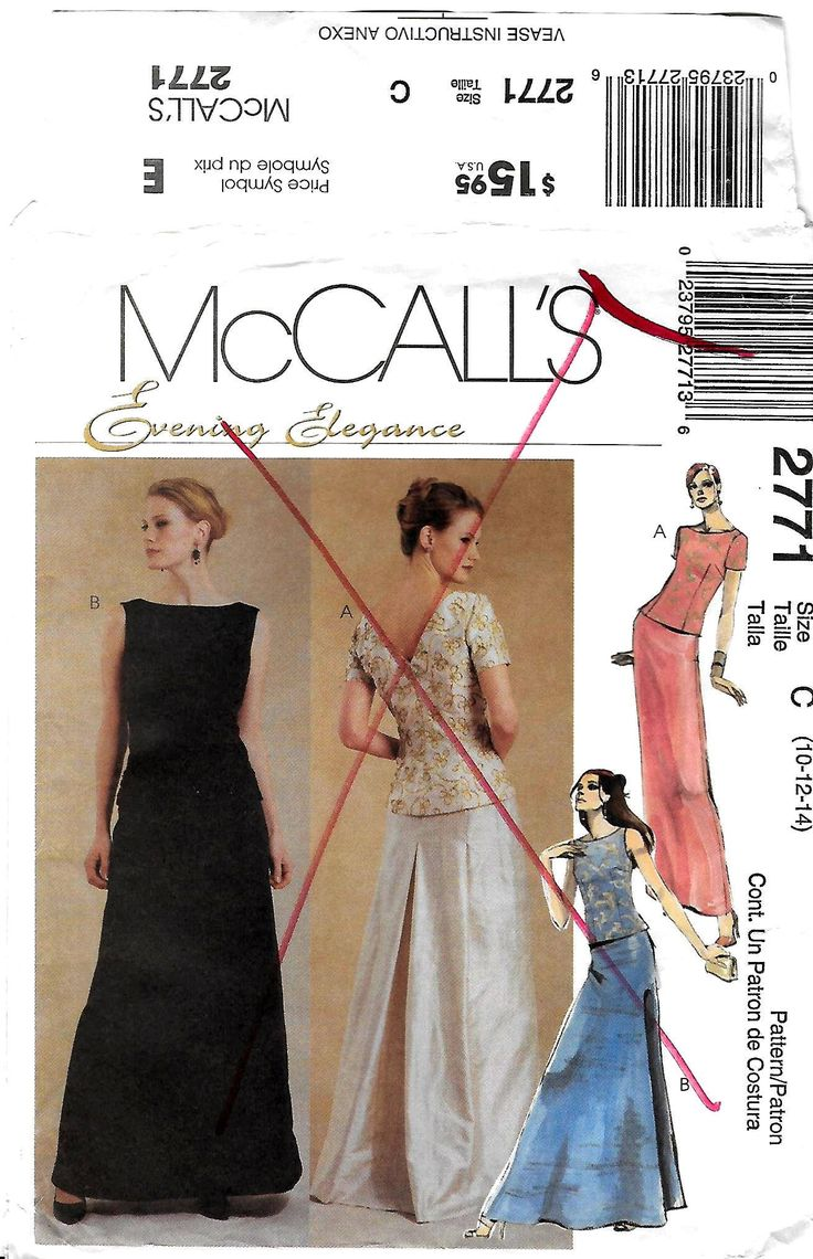 359 best sewing patterns images on pinterest balls christmas formal evening skirt top pattern two piece prom gown mother of the bride jeuxipadfo Gallery