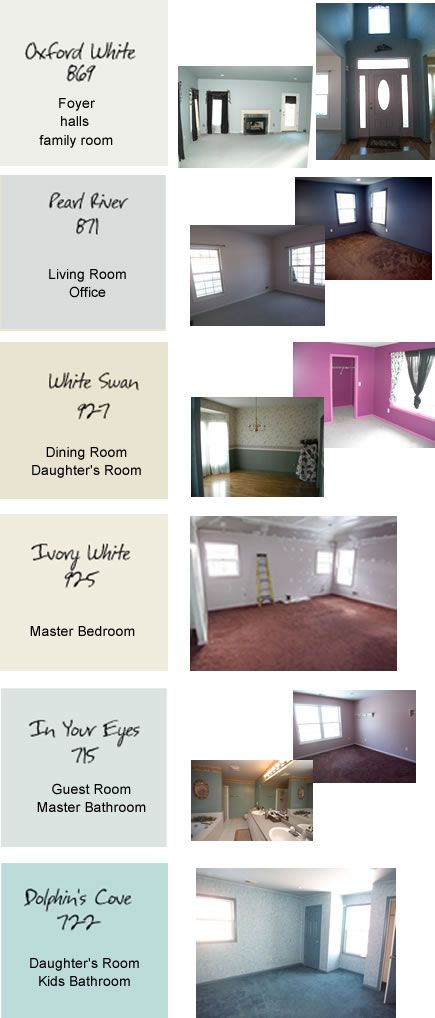 Paint Colors For The Whole House Color Schemes Pinterest Home And