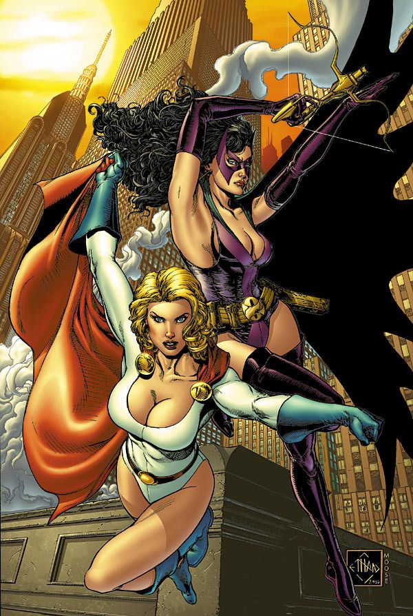 Power Girl & Huntress by Ethan Van Sciver