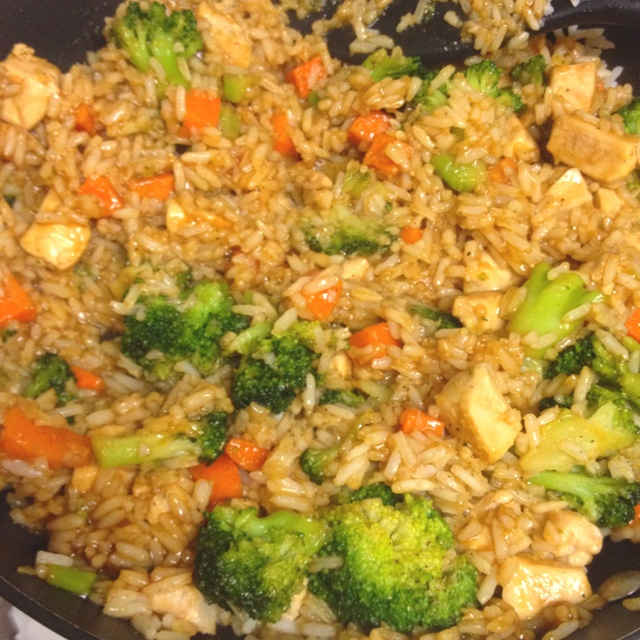 how to cook chicken rice stir fry
