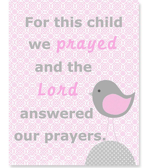 Nursery Art Gray and Pink Nursery Bird by SweetPeaNurseryArt, $15.00