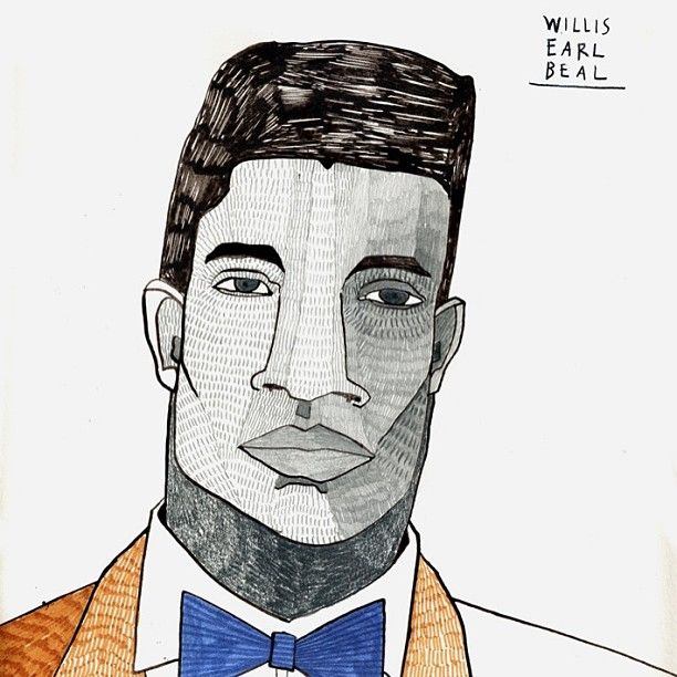 "@Carla Fuentes's photo: ""I made this drawing for Willis Earl Beal / www.littleisdrawing.com"""
