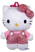 """Hello Kitty 12"""""""" Plush Backpack Toy - Sequin Bow"""