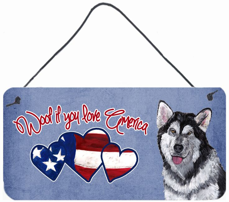 Woof if you love America Alaskan Malamute Wall or Door Hanging Prints