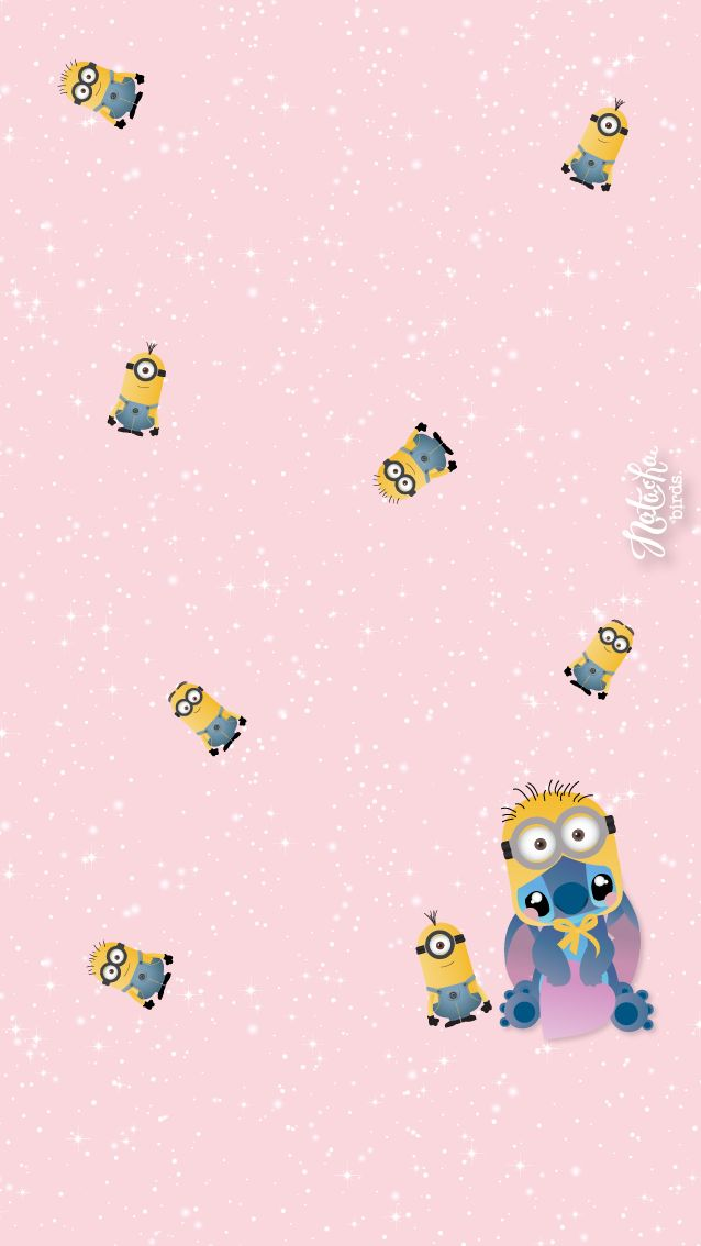 Wallpaper téléphone : Stitch and les minions.