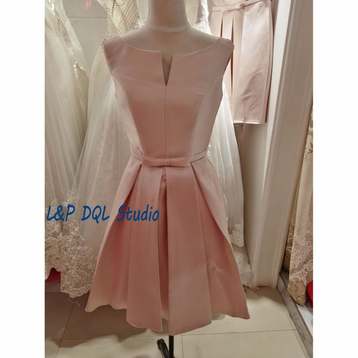 Aliexpress.com : Buy Elegant Satin Bridesmaid Dresses 2017 New Arrival Scoop Sleeveless Lace up Back Cheap Wedding Party Dresses from Reliable dress disco suppliers on L&P DQL Studio Lpdress Store