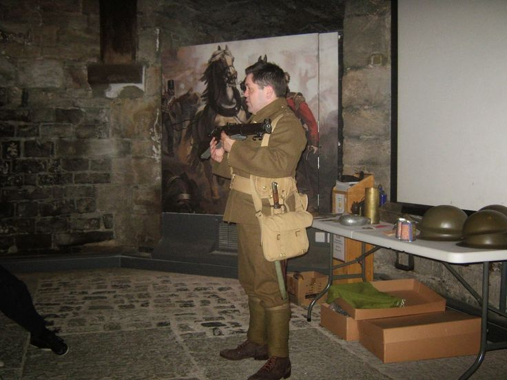 Our WW1 reenactor at the Museum in Caernarfon Castle