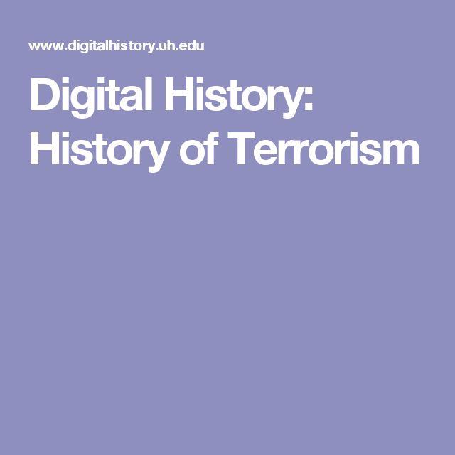 Digital History: History of Terrorism