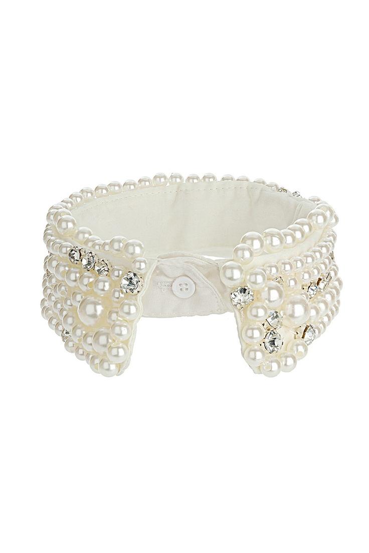 Topshop Hemdkragen mit Perlen