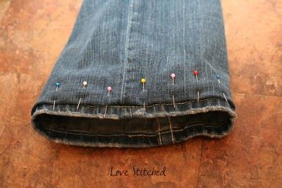 HOW TO HEM JEANS {{TUTORIAL}} and keep the original hem.