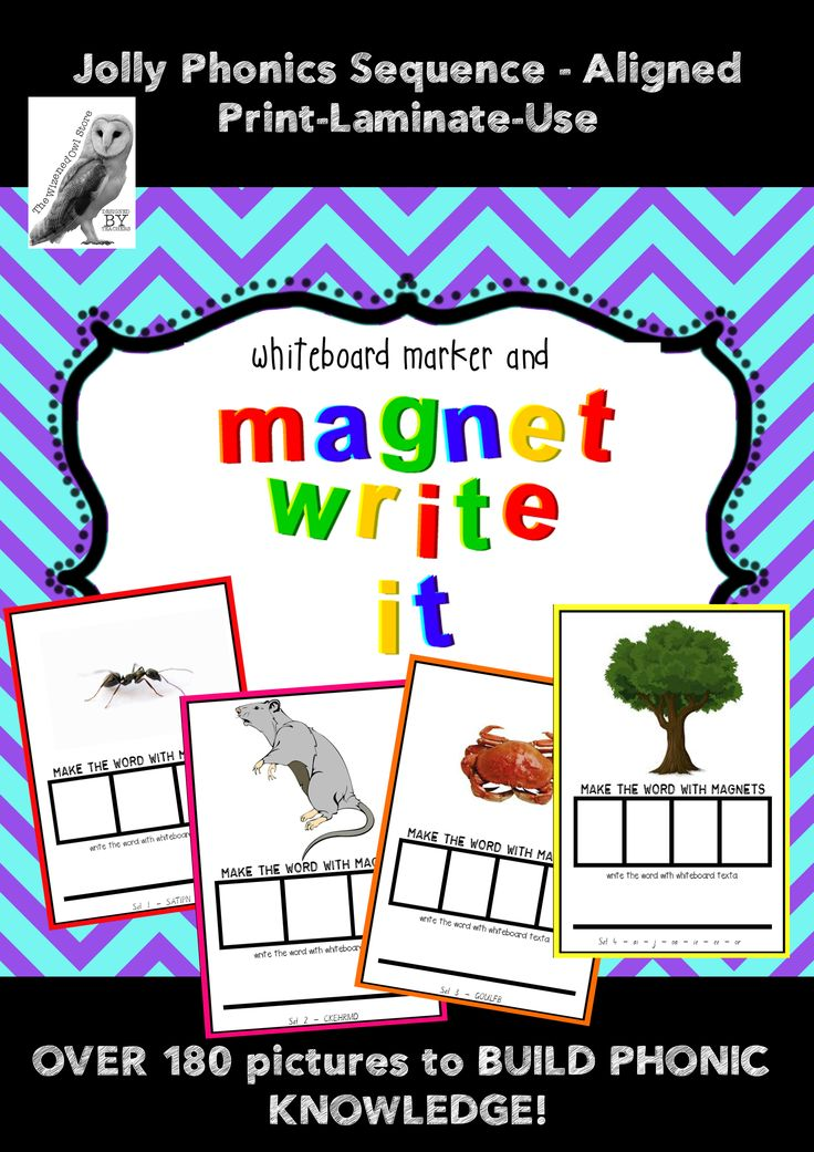 This is a great resource for all Literacy/L3 Centres. Totally aligned with the Jolly Phonics sequence of letters introduced to students, 'Magnet Write It!' allows students to observe a picture and approximate the spelling of words using magnet letters – AND only the letters that they are familiar with. 180 pages for $16!