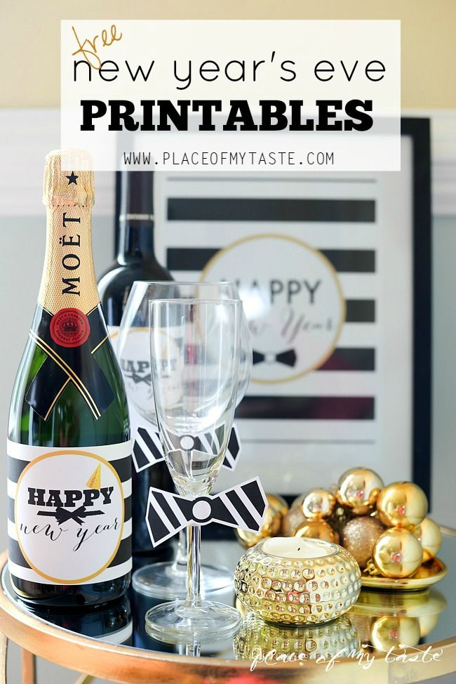 FREE NEW YEAR'S EVE PRINTABLES- Placeofmytaste.com