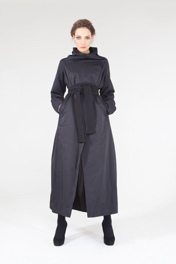 Купить Плащ-пальто Трапеция с поясом кушак на подкладке от Lesel (Лесель)