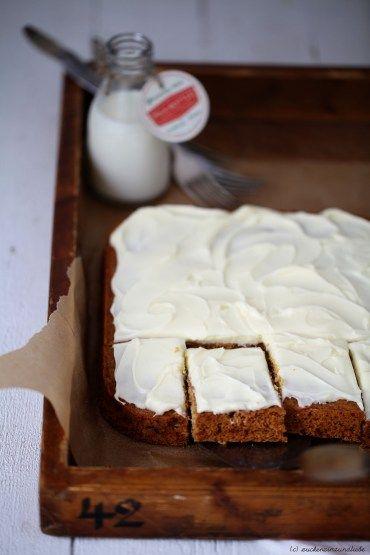 Spekulatius Kuchen mit Orangen Frosting