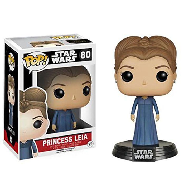 Star Wars Force Awakens POP Princess Leia Bobble Head Vinyl Figure