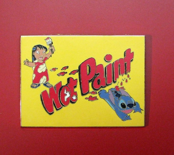 DISNEY WDW CAST EXCLUSIVE WET PAINT LILO AND STITCH PIN
