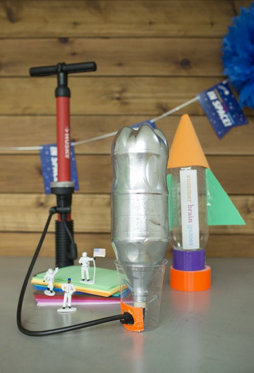 Blast off into space with this fun and easy water rocket from the Museum of Science and Industry, Chicago.