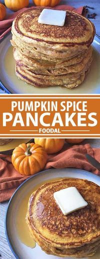 Infuse a little fall fun into your flapjacks with our delicious recipe for fluffy pumpkin spice pancakes. Made with pure pumpkin puree and a medley of spices, breakfast (or brunch, or brinner!) will taste so good. Served with maple syrup, butter, and all