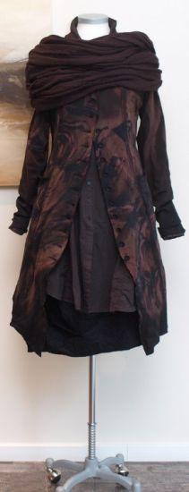 rundholz black label - Longbluse Opa Stil rubin - Winter 2014 - stilecht - mode für frauen mit format...