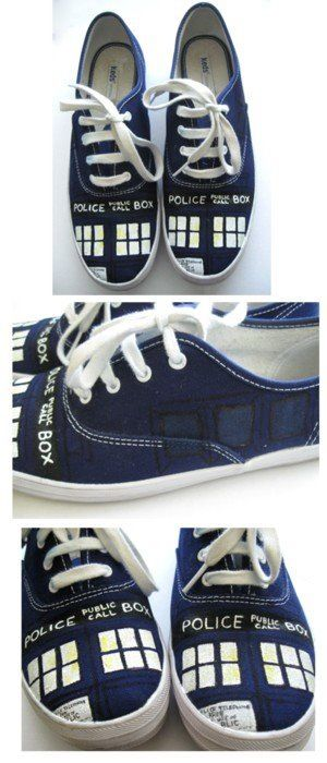 Doctor Who shoes... no one got me a sweet sixteen birthday present. Please?