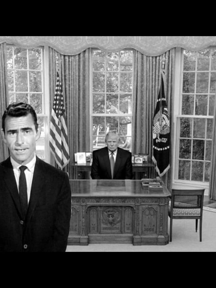 Yes, we are living in the Twilight Zone. #notmypresident #nevertrump