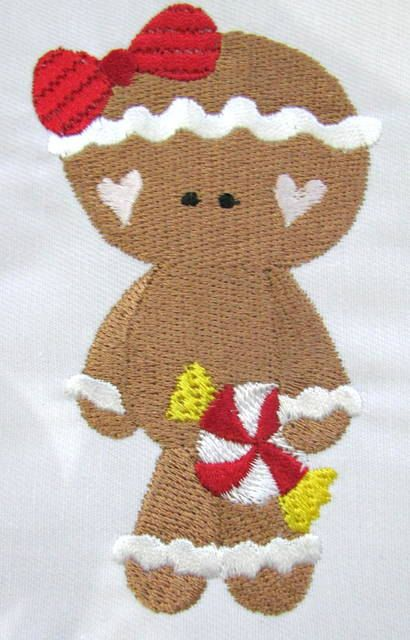 Holiday Gingers 03 Machine Embroidery Applique Design by KCDezigns