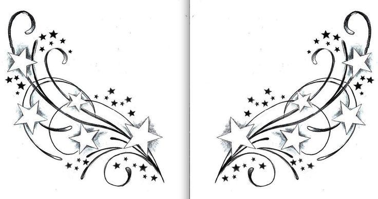 on lower back on each side of angel