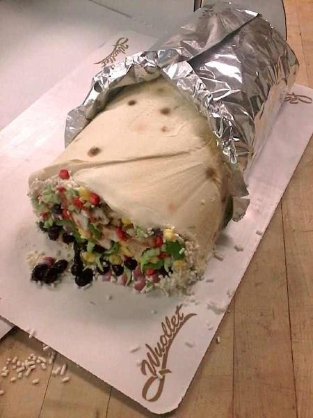 This is NOT a burrito! How did they even do this? Cake Wrecks - Home - Sunday Sweets Just Wants To Bang On The Drum All Day