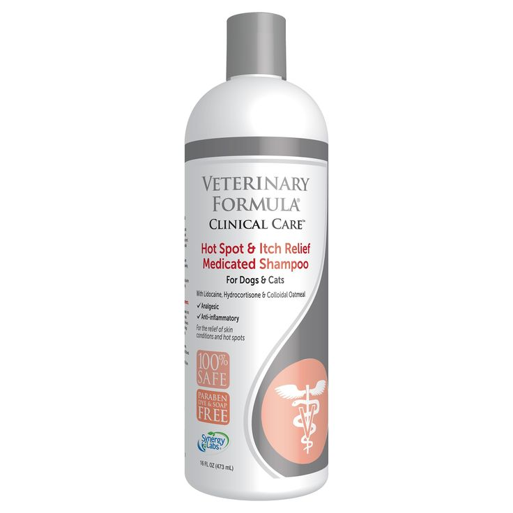 Veterinary Formula Clinical Care Hot Spot & Itch Relief Pet Shampoo - 16 oz, Black