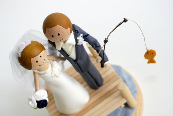 Gone Fishing Cake Topper #homemade and perfect for the gentlemen who love to fish.