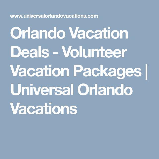Orlando Vacation Deals - Volunteer Vacation Packages   Universal Orlando Vacations