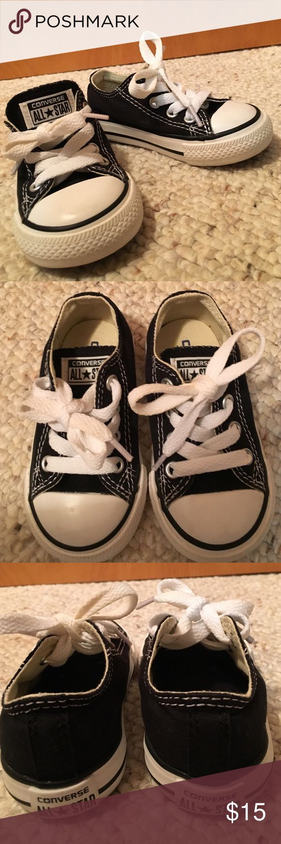 Toddler boy's Converse All Star shoes Like new! Black Converse All Star tennis shoes in Excellent condition. Converse Shoes Sneakers