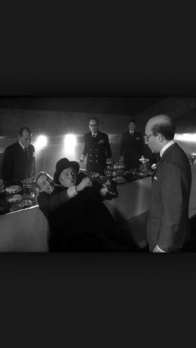"""Gentlemen, you can't fight in here! This is the War Room""   President Merkin Muffley  Dr. Strangelove or: How I Learned to Stop Worrying and Love the Bomb (1964)"
