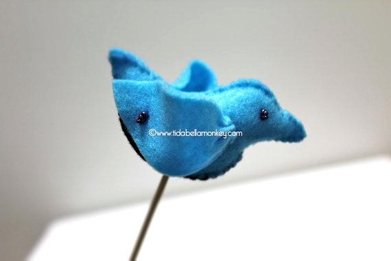 Little BLUE Wren Single Bouquet
