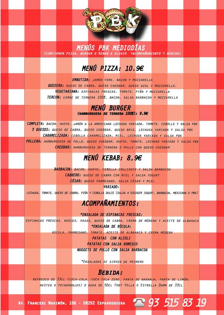 ¿Te gusta comer de menú al mediodía?  Aprovecha nuestros nuevos menús de mediodía, para comer en nuestro restaurante