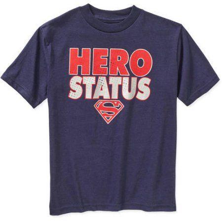 DC Comics Superman Hero Status Boys Graphic Tee, Blue