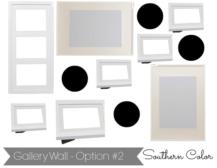 How to Create a Gallery Wall | Ikea Ribba Frames @Elizabeth and Julia {Southern Color}