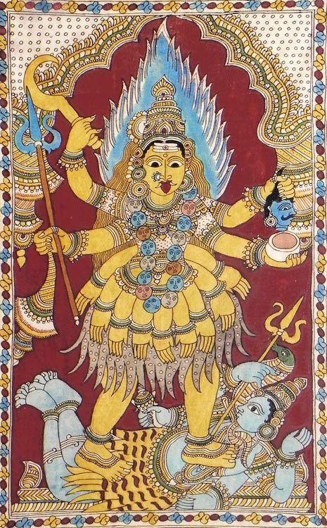 Kali (Kalamkari Paintings on Cotton - Unframed))