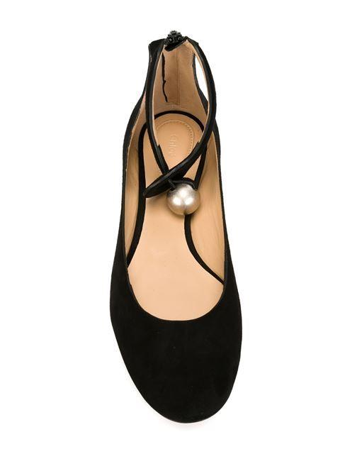 Shop Chloé ankle strap ballerinas.