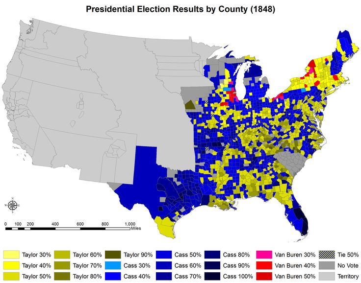 US Presidential Election Of By County - Us presidential election under 30 years map