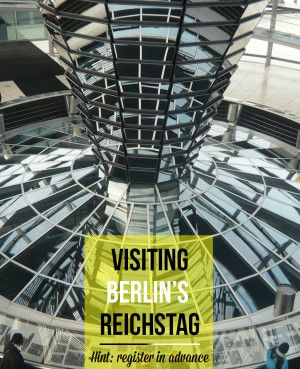 Inside the Reichstag's Dome in Berlin - impressive design by Norman Foster