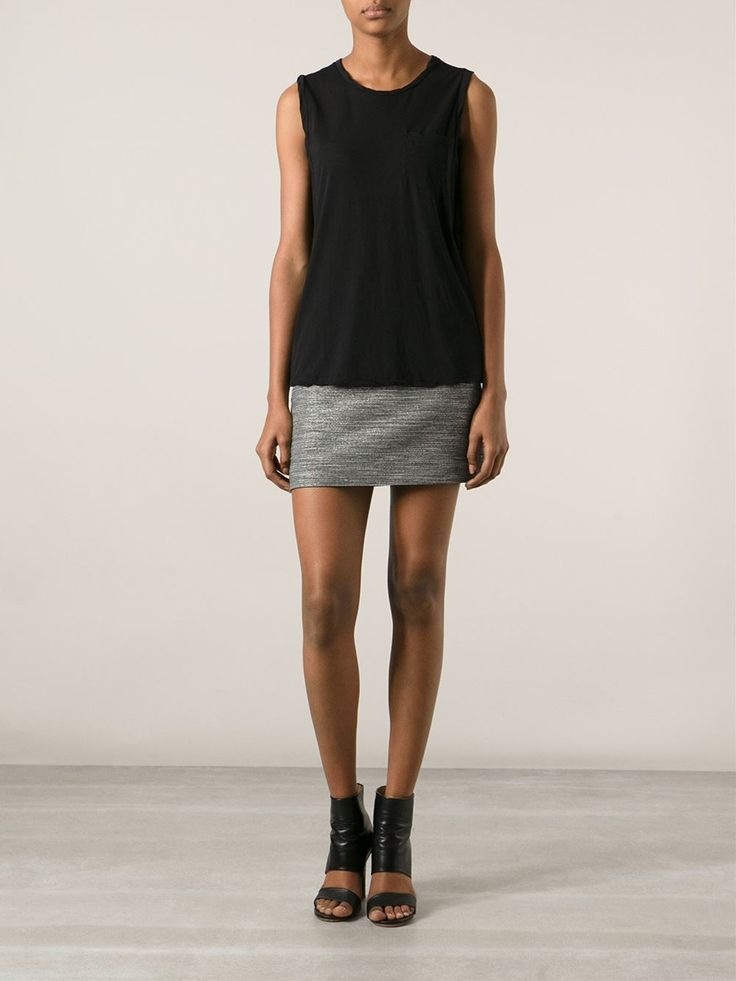 Black cotton muscle T-shirt from James Perse