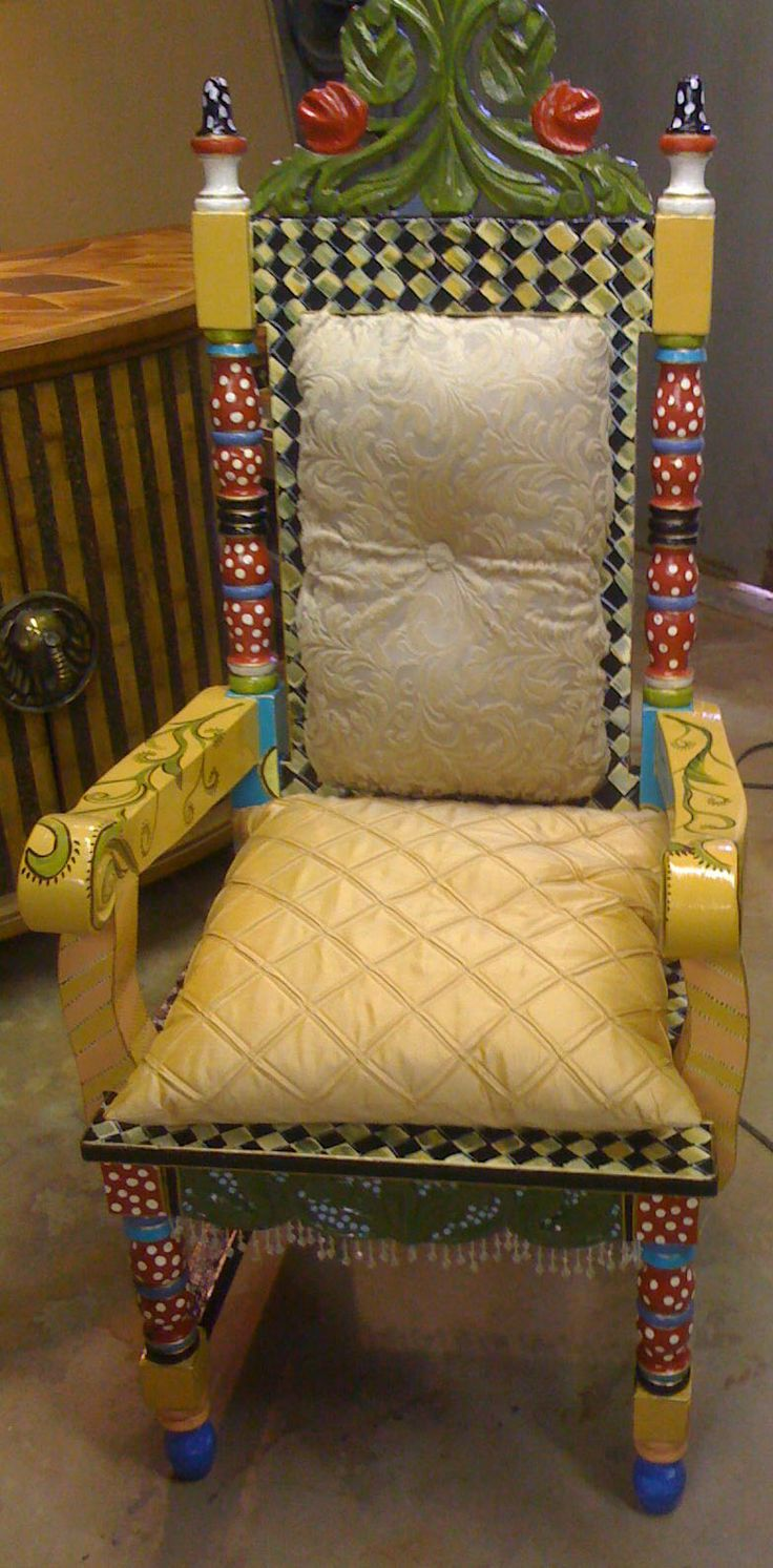 Kingly chair painted chair designs pinterest Images of painted furniture