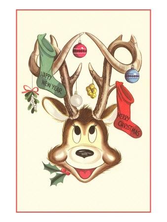 124 best Christmas Reindeer  Deer images on Pinterest  Vintage